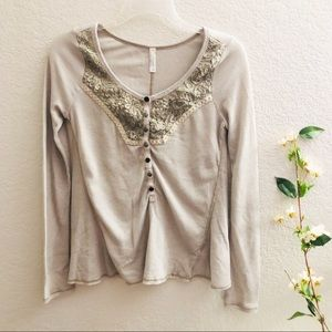 Free People gray Long Sleeve Top size small